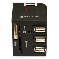 Talius - EU148 - Hub 3xUSB 2.0 + Lector de tarjetas  -
