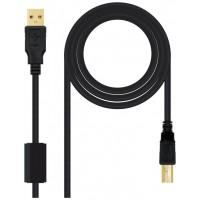 CABLE USB 2.0 IMPRESORA HQ C FERRITA TIPO A/M-B/M