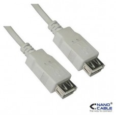 CABLE USB 2.0 TIPO A/H-A/H BEIGE 0.5 M NANOCABLE