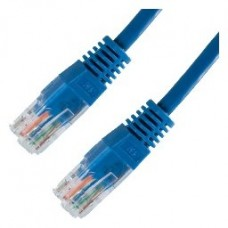 CABLE RED LATIGUILLO RJ45 CAT.5E UTP AWG24,0.5M AZUL NANOCABLE