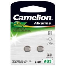 Pila Botón Alcalina LR41 1.5V 0% Mercurio (2 pcs) Camelion