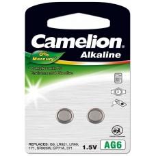 Pila Botón Alcalina LR69 1.5V 0% Mercurio (2 pcs) Camelion