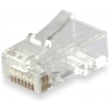 KIT 100 CONECTORES RJ45 EQUIP CATEGORIA 6   121144