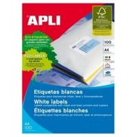 ETIQUETAS APLI A4 105X37MM