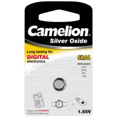 Boton Oxido plata SR44W 1.55V 0% Mercurio (1 pcs) Camelion (Espera 2 dias)