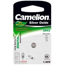 Boton Oxido plata SR43W 1.55V 0% Mercurio (1 pcs) Camelion (Espera 2 dias)