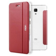 Funda Tipo Libro de piel Xiaomi MI4 roja (Espera 4 dias)