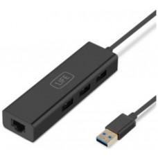HUB 1LIFE 4PTOS USB3.0 NEGRO