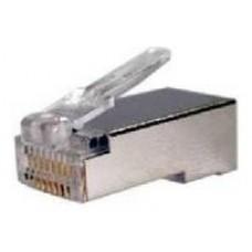 Conector RJ45 8 hilos FTP cat.6 (10und)