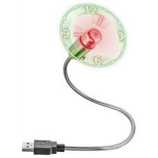 VENTILADOR USB TRUST FLEX CON RELOJ LED INCORPORADO