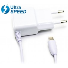 Cargador Micro USB UltraSpeed 2.1A Blanco Biwond (Espera 2 dias)