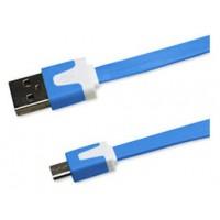 Cable Plano Micro USB 1m Azul (Espera 2 dias)