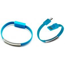 Pulsera Cable Carga/Datos MicroUSB Universal Azul