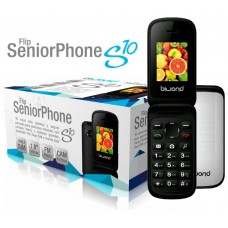 Biwond S10 Dual SIM+Camara+Bluetooth+Radio Flip SeniorPhone Blanco