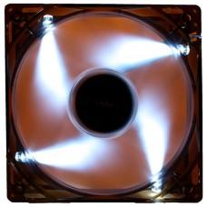 VENTILADOR 12CM UNYKA 1.200RPM TRANSPARENTE LED-BLANCO