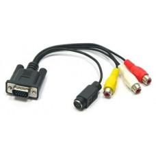 Cable adaptador VGA a RCA S-VIDEO