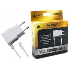 Cargador UltraSpeed Lightning iPhone/iPad Blanco Biwond