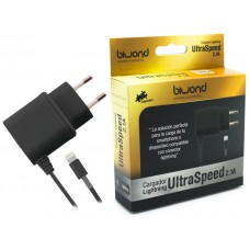 Cargador UltraSpeed Lightning iPhone/iPad Negro Biwond