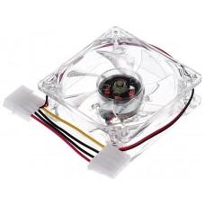 Ventilador 8cm IDE 12V Transparente+Luz Interna