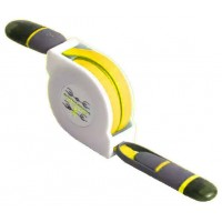 Cable Retráctil USB a Lightning+MicroUSB Amarillo
