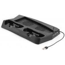 Soporte Vertical Refrigerador Consola + Doble Estación Carga Mandos PS5 (Espera 2 dias)