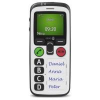 """TELÉFONO MÓVIL SENIOR DORO SECURE 580 1,8"""" NEGRO BLANCO"""