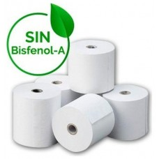 PAPEL TERMICO SIN BISFENOL A 80X80X12 MM - PAQUETE