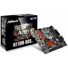 PLACA ASROCK H110M-DGS R3.0 INTEL1151 DDR4 DVI PCIE3.0 (Espera 4 dias)