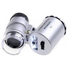 Mini Microscopio Monoculo con Luz Led y Lupa 60x (Espera 2 dias)