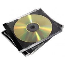 PACK 10 CAJAS CD/DVD JEWEL NEGRO FELLOWES (Espera 2 dias)