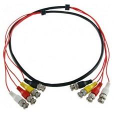 VIGILANCIA CABLE IVT CONECTOR 4 BNC A 4-BNC 2 METROS