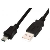 CABLE USB 2.0 A(M) - MINIUSB M 3M