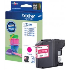 TINTA BROTHER LC-221M MAGENTA 260PAG