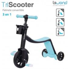 Patinete 3 en 1 TriScooter Azul Biwond (Espera 2 dias)