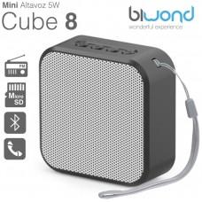 Mini Altavoz Bluetooth 5W Cube 8 Negro Biwond (Espera 2 dias)
