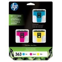 PACK 3 CARTUCHOS DE TINTA HP Nº363 CIAN/MAGENTA/AMARILLO