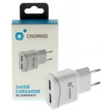 Cargador de Corriente 2.1A 2x USB CROMAD (Espera 2 dias)