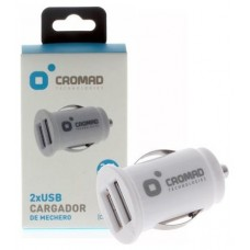 Cargador de Mechero 2.1A CROMAD 2 x USB Blanco (Espera 2 dias)