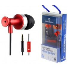Auricular + Micrófono Powerbass Rojo Coolsound (Espera 2 dias)