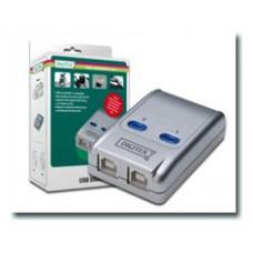 CONMUTADOR DIGITUS USB 2.0 COMPARTIT 2 PC 1 APARATO AUTO-ALIMENTADO