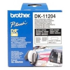 ETIQUETAS BROTHER DK11204 USO MULTIPLE 17X54 400UD