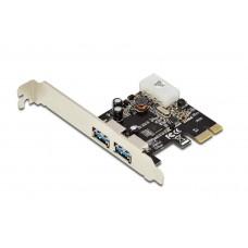 TARJETA EXPANSION DIGITUS PCI EXPRESS 2x USB 3.0 INCL. LOW PROFILE BRACKET