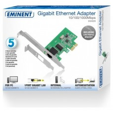 EMINENT TARJETA RED 10/100/1000 Mbps PCI-E