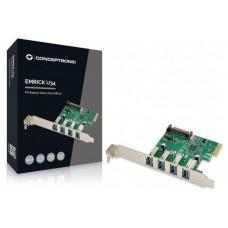 CONTROLADORA CONCEPTRONIC PCI EXPRESS 4 PUERTOS USB