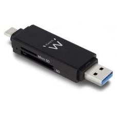 EWENT LECTOR DE TARJETAS USB 3.0 TIPO C/ TIPO A (EW1075) (Espera 2 dias)