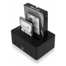 BASE CONECTORA DUO HDD EWENT EW7015 SATA / USB 3.0