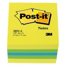 NOTAS ADHESIVAS POST-IT 3M 51X51 LIMON