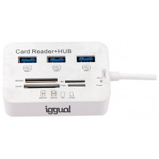 iggual Hub USB 3.0 x 3p + Lector tarjetas USB 3.0