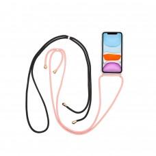 CELLY COVER IPHONE 11 PRO TRANSPARENTE CORDON ROSA (Espera 3 dias)