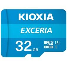 MICRO SD KIOXIA 32GB EXCERIA UHS-I C10 R100 CON ADAPTADOR